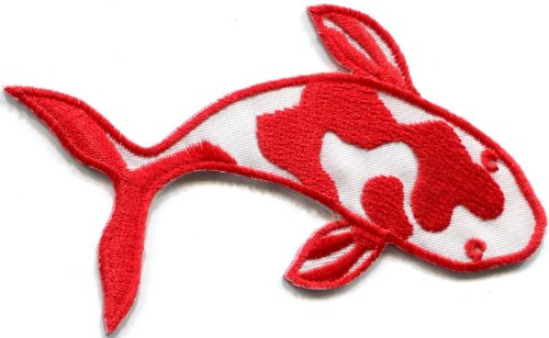 Red Koi Tattoo Iron-On Applique Patch